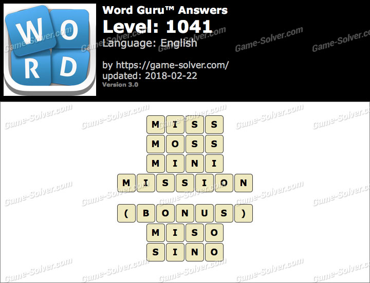Word Guru Level 1041 Answers