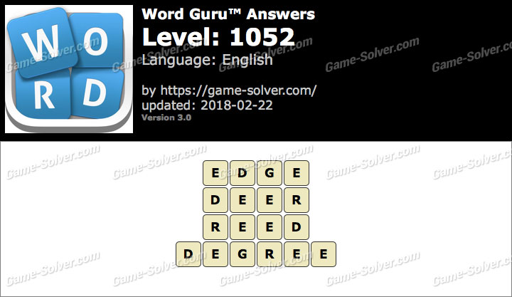 Word Guru Level 1052 Answers