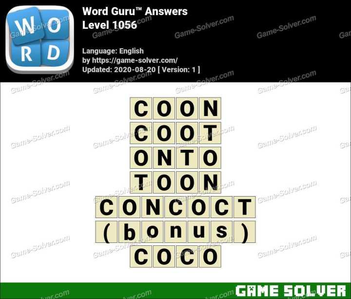 Word Guru Level 1056 Answers