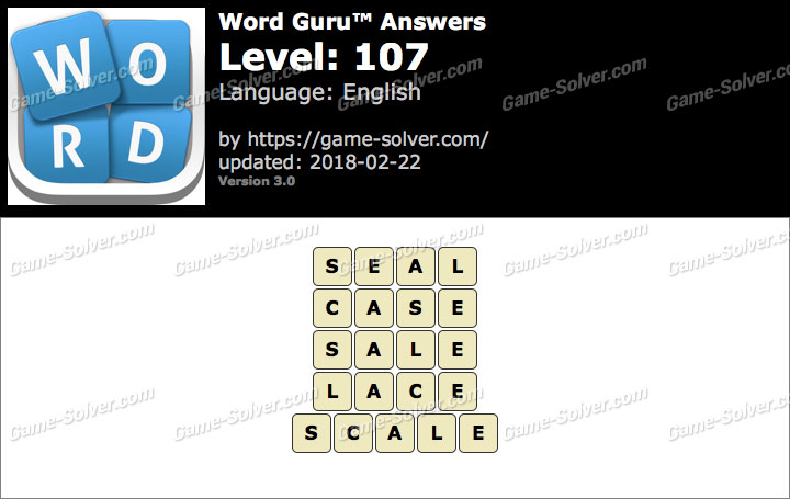 Word Guru Level 107 Answers