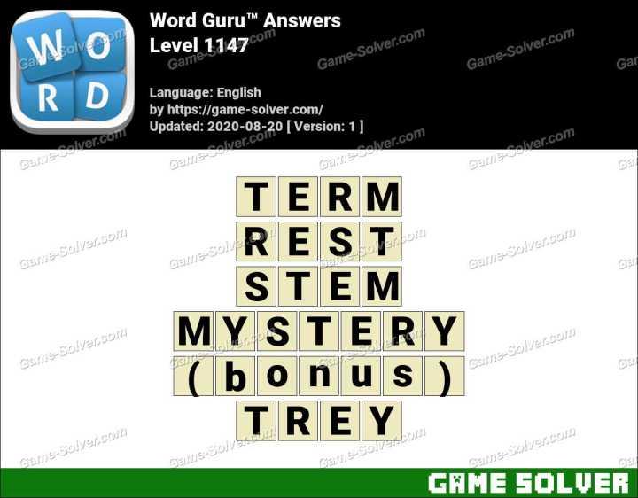 Word Guru Level 1147 Answers