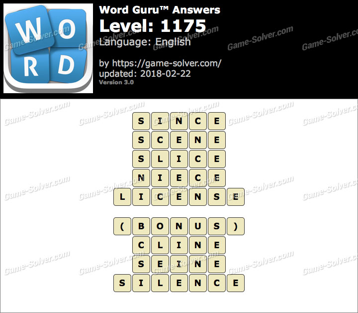 Word Guru Level 1175 Answers
