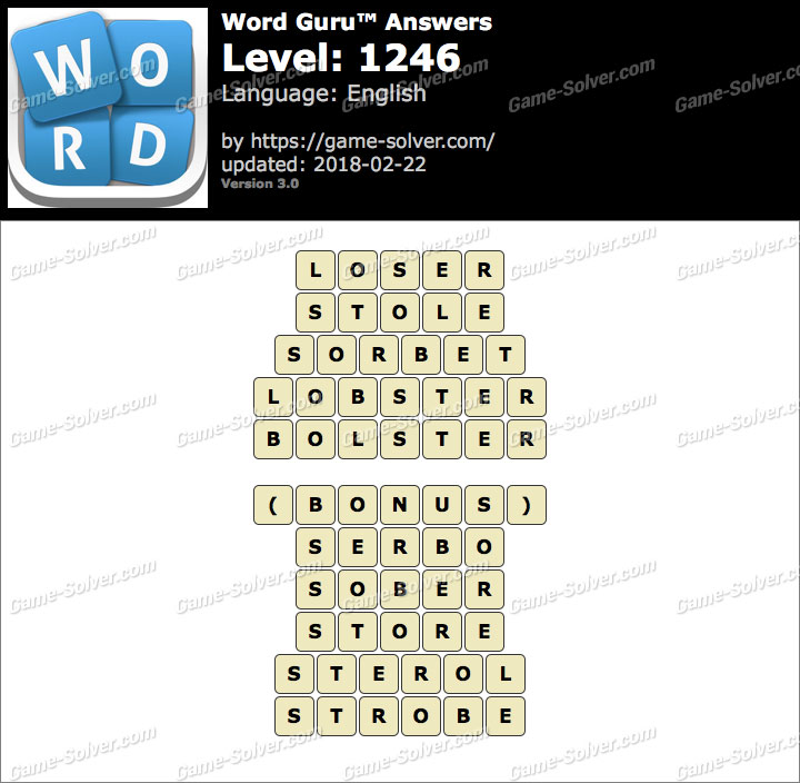 Word Guru Level 1246 Answers