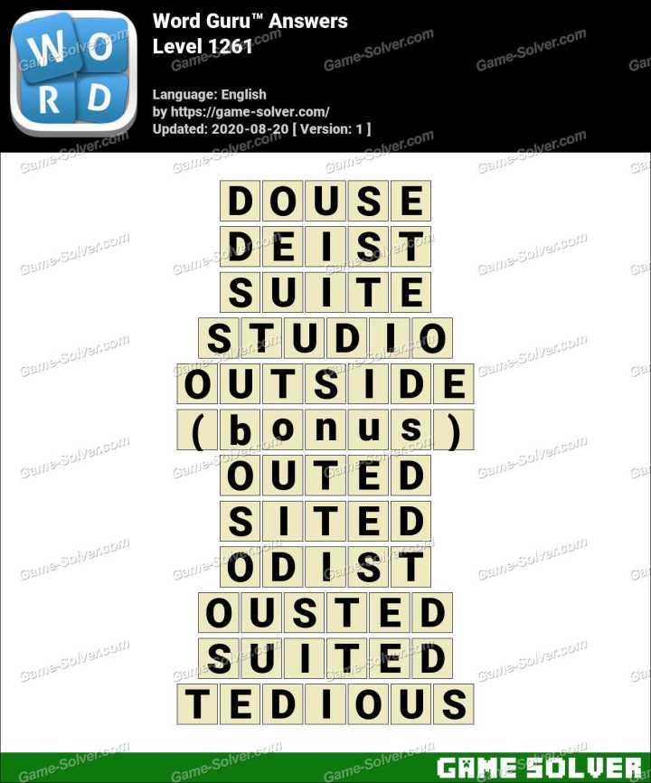 Word Guru Level 1261 Answers
