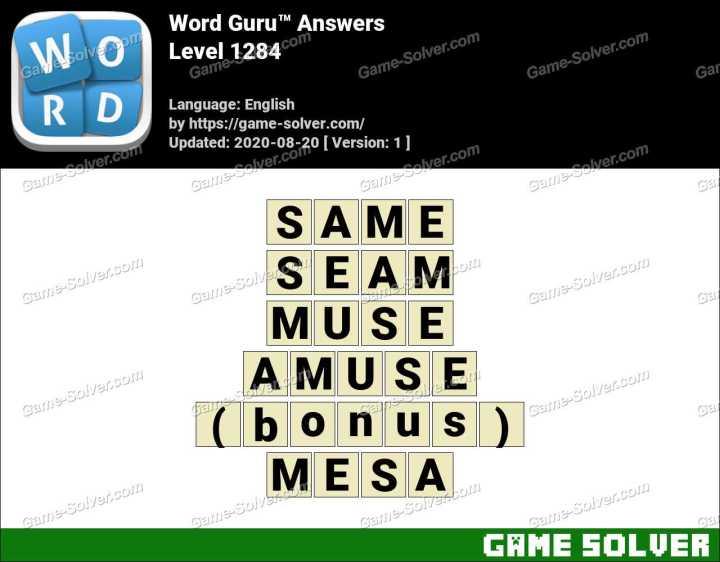 Word Guru Level 1284 Answers