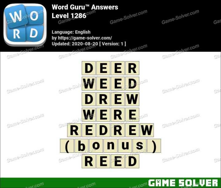 Word Guru Level 1286 Answers