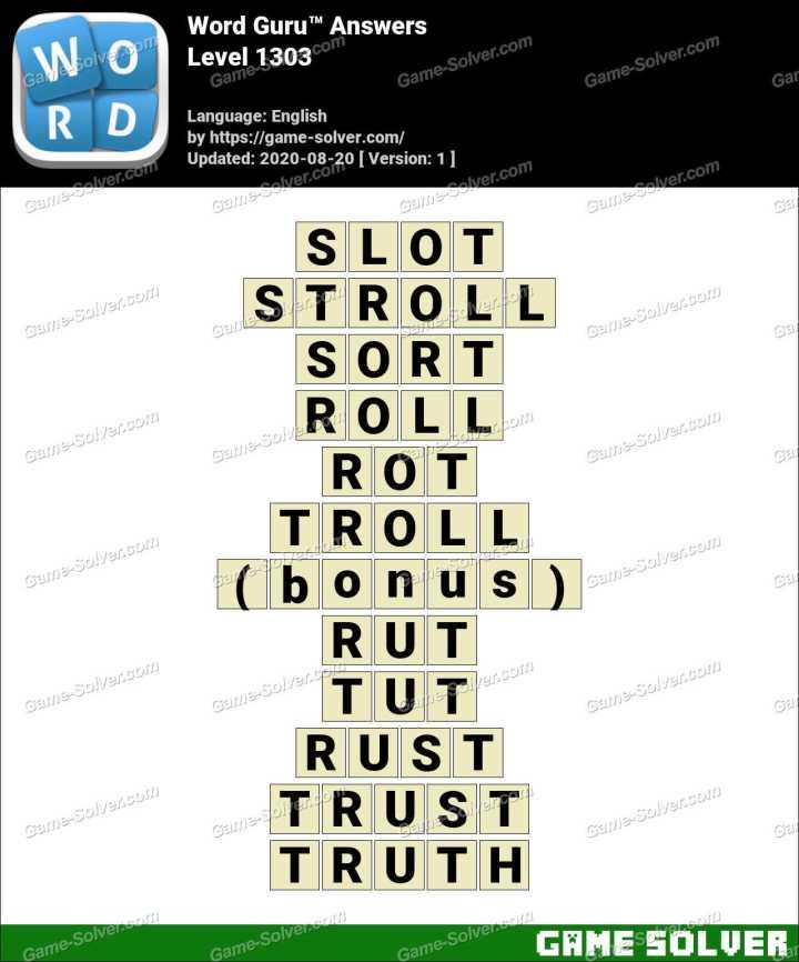 Word Guru Level 1303 Answers