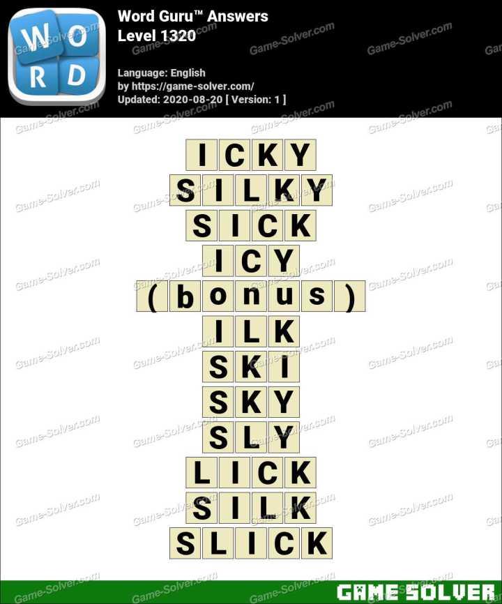 Word Guru Level 1320 Answers