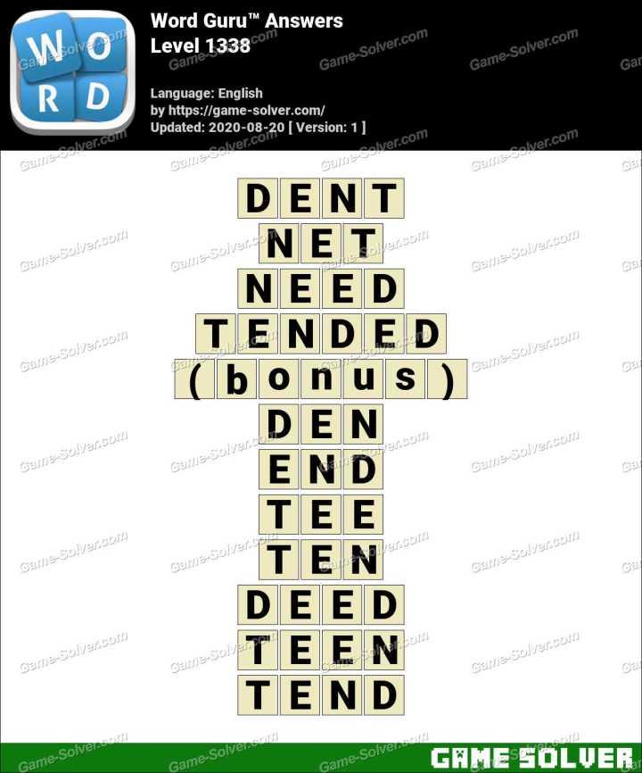 Word Guru Level 1338 Answers