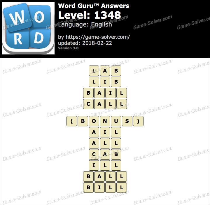 Word Guru Level 1348 Answers