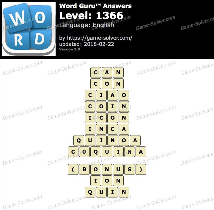 Word Guru Level 1366 Answers
