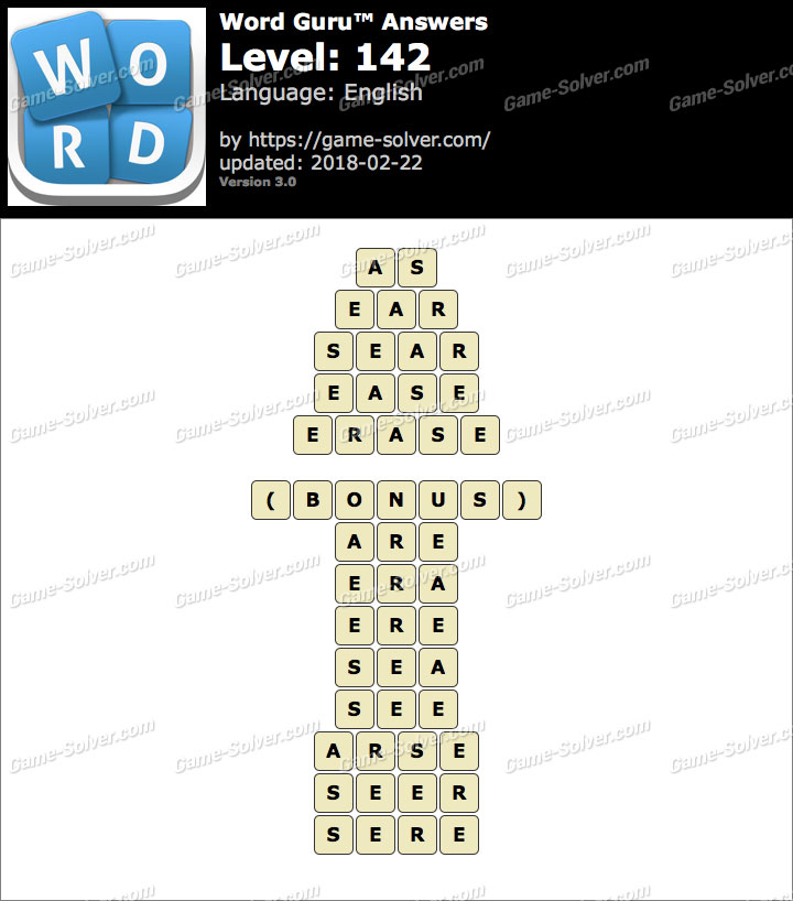 Word Guru Level 142 Answers