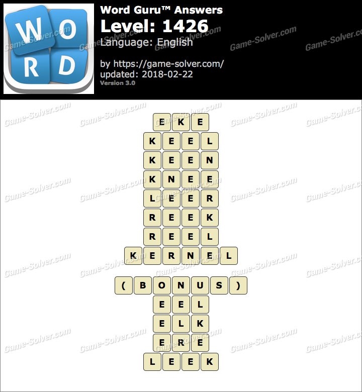 Word Guru Level 1426 Answers