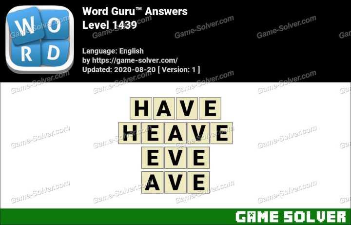 Word Guru Level 1439 Answers