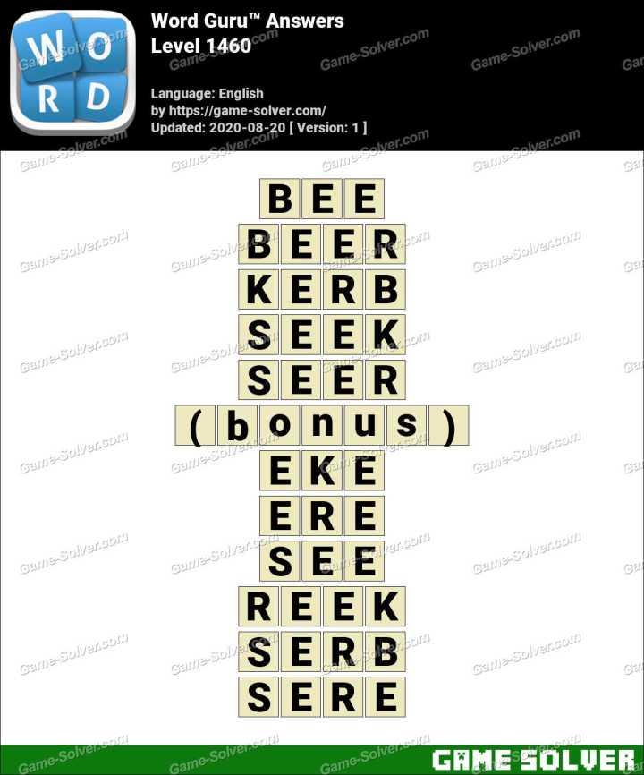 Word Guru Level 1460 Answers