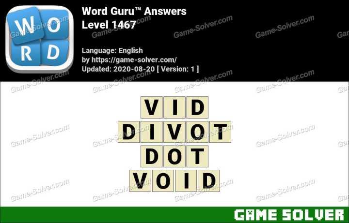 Word Guru Level 1467 Answers