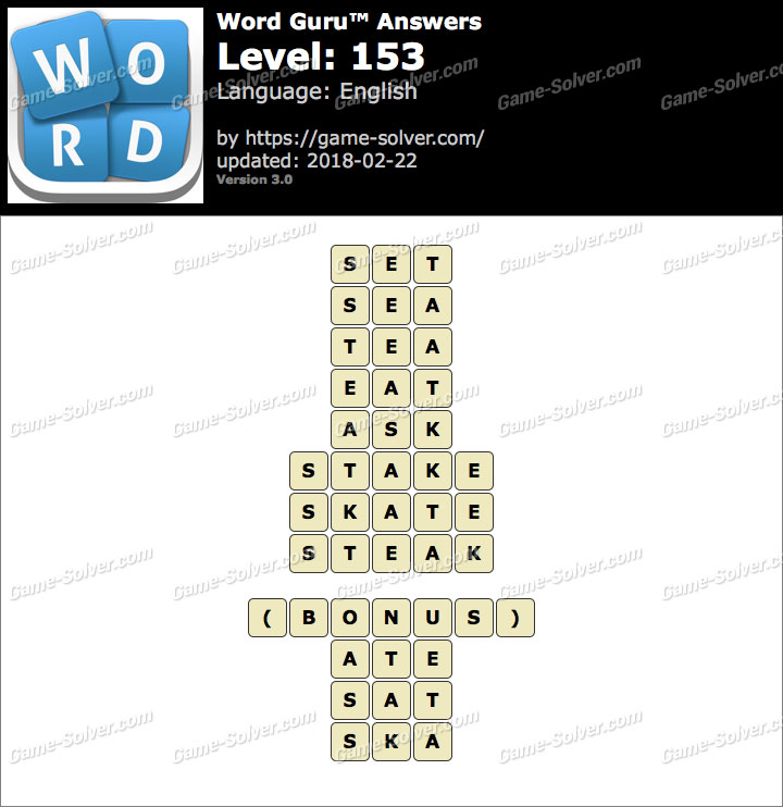 Word Guru Level 153 Answers