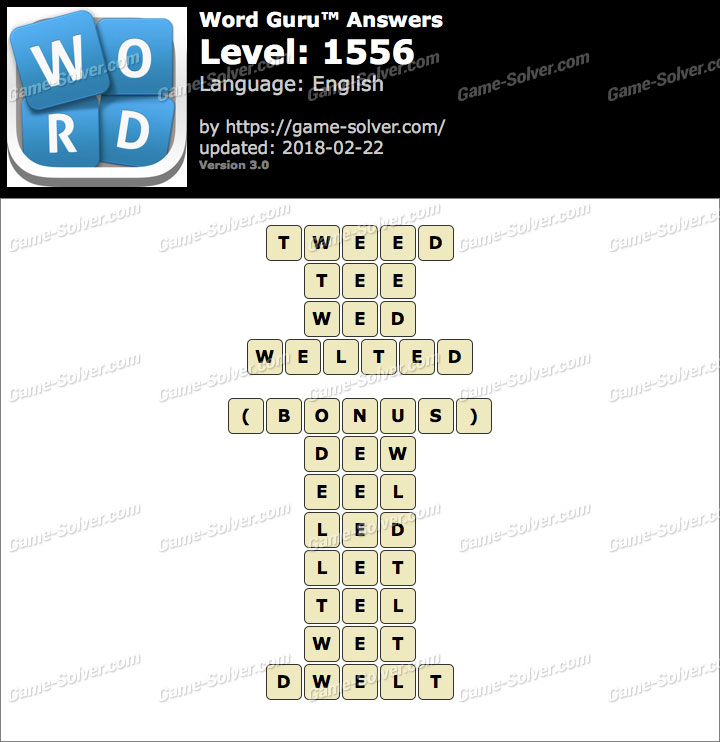 Word Guru Level 1556 Answers