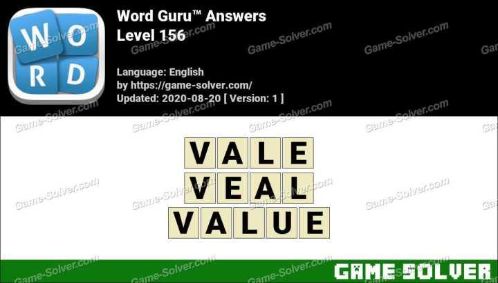 Word Guru Level 156 Answers
