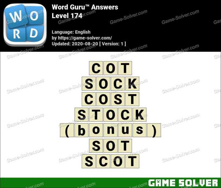 Word Guru Level 174 Answers