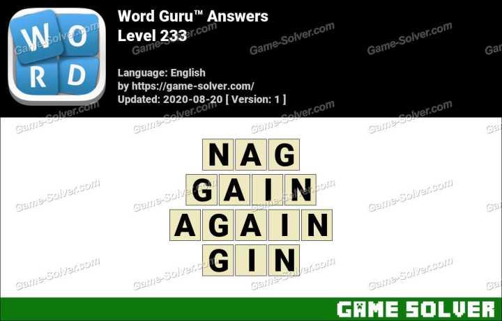 Word Guru Level 233 Answers