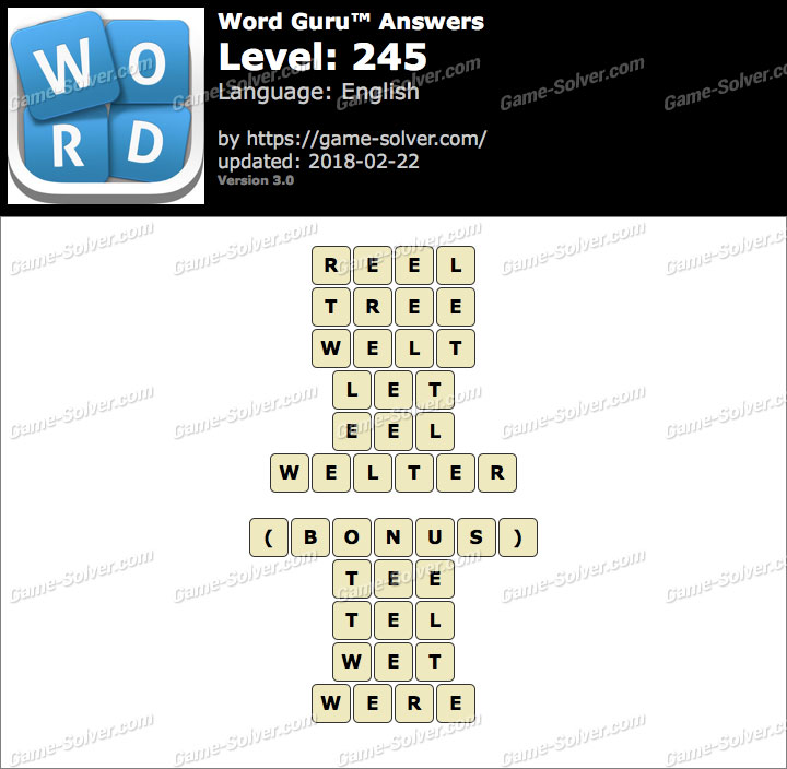 Word Guru Level 245 Answers