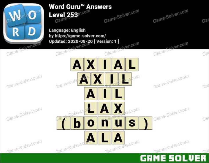 Word Guru Level 253 Answers