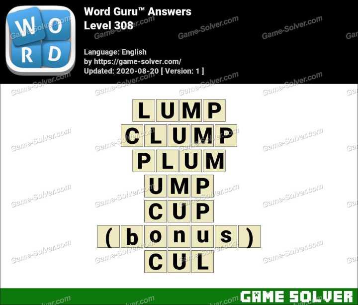 Word Guru Level 308 Answers