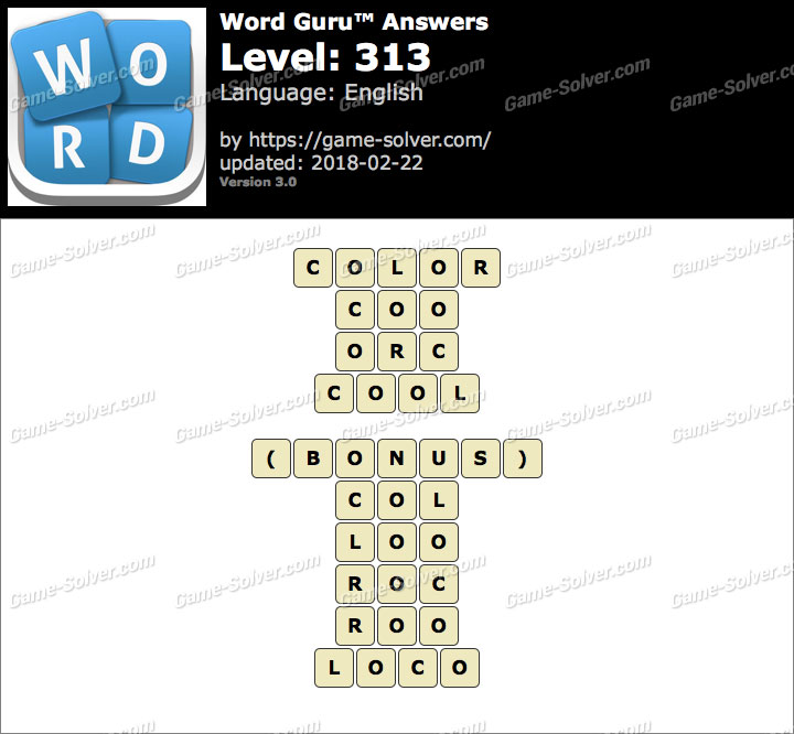 Word Guru Level 313 Answers