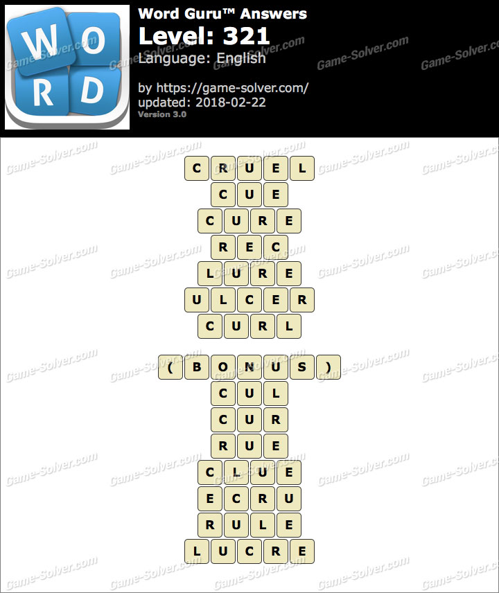 Word Guru Level 321 Answers