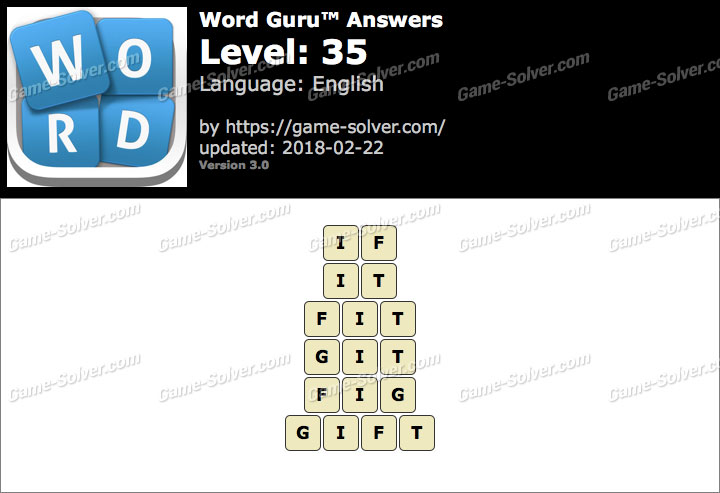 Word Guru Level 35 Answers