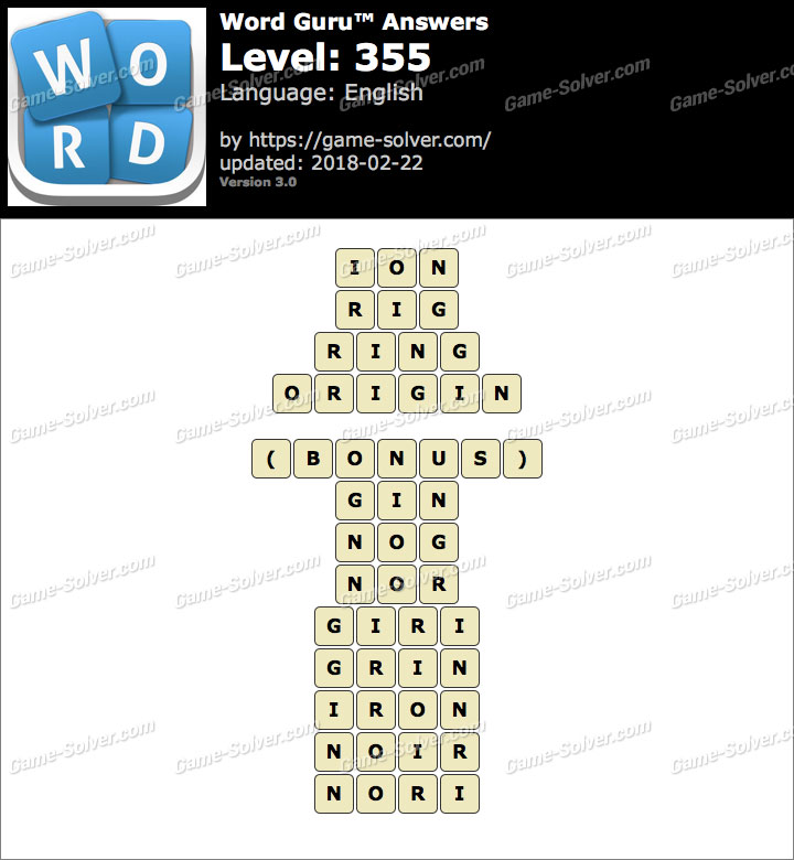 Word Guru Level 355 Answers