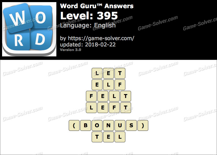 Word Guru Level 395 Answers