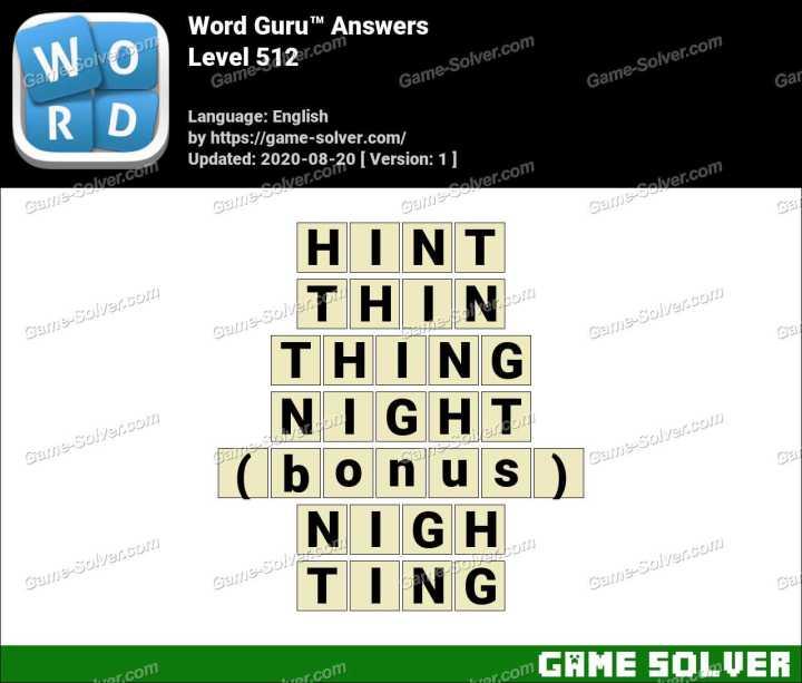 Word Guru Level 512 Answers