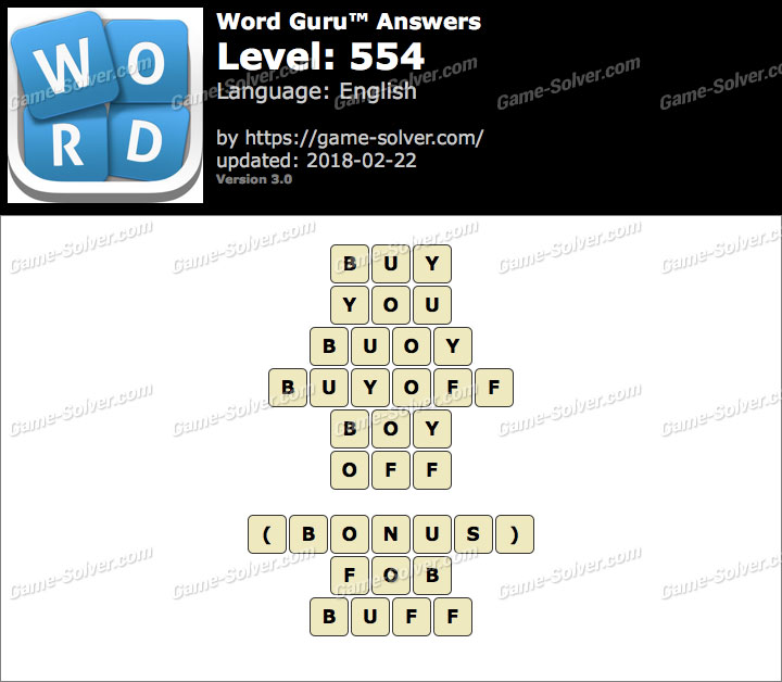 Word Guru Level 554 Answers