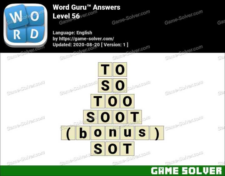 Word Guru Level 56 Answers