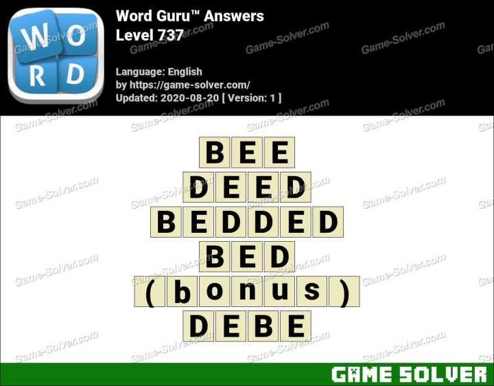 Word Guru Level 737 Answers