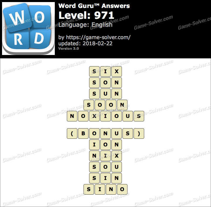 Word Guru Level 971 Answers