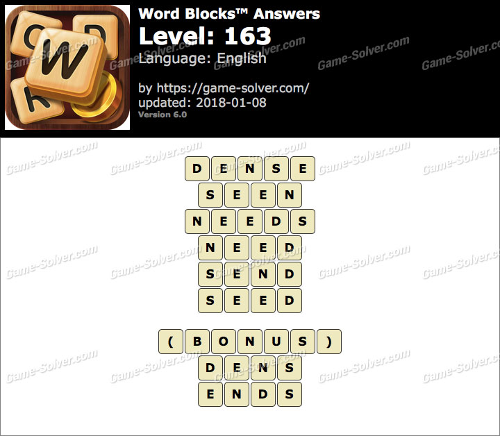 Word Blocks Level 163 Answers