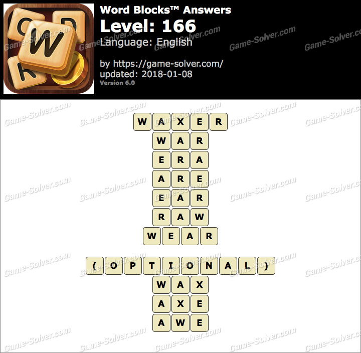 Word Blocks Level 166 Answers