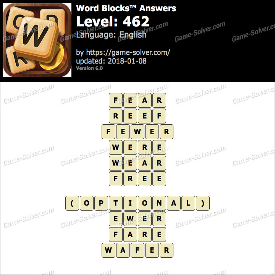 Word Blocks Level 462 Answers