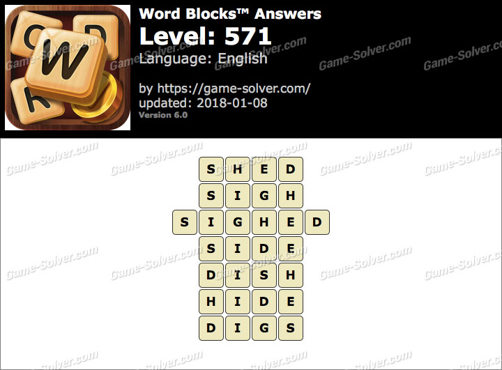 Word Blocks Level 571 Answers