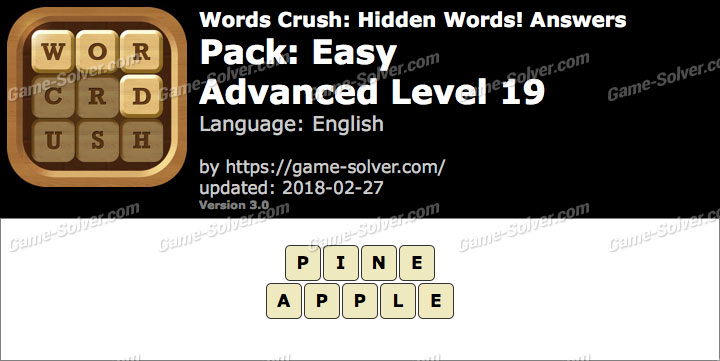 Words Crush Easy-Advanced Level 19 Answers