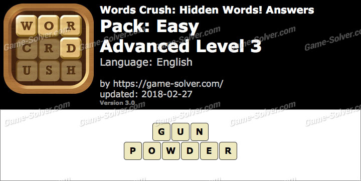 Words Crush Easy-Advanced Level 3 Answers