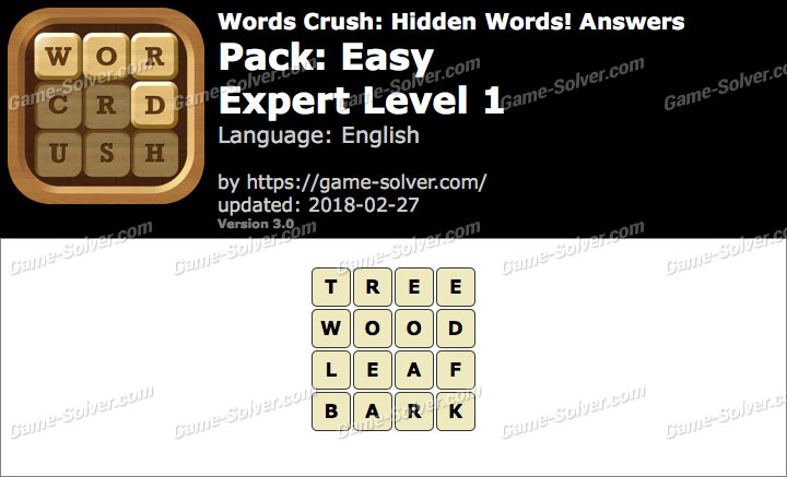 Words Crush Easy-Expert Level 1 Answers