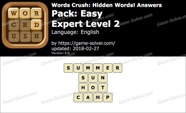 Words Crush Easy-Expert Level 2 Answers