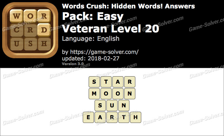 Words Crush Easy-Veteran Level 20 Answers