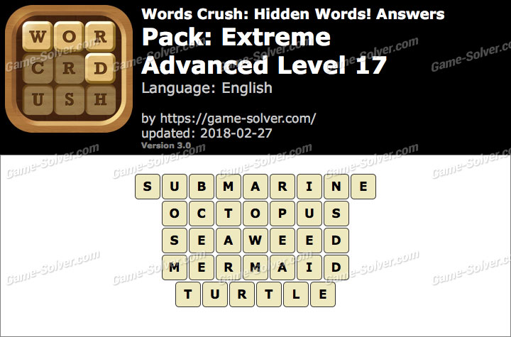 Words Crush Extreme-Advanced Level 17 Answers