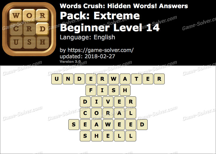 Words Crush Extreme-Beginner Level 14 Answers