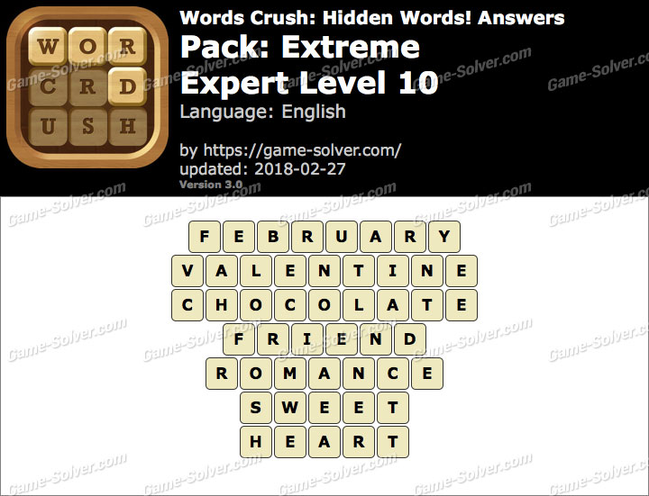 Words Crush Extreme-Expert Level 10 Answers